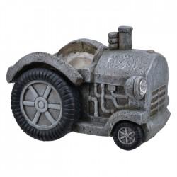 Traktor 38x28 grå utendørs...