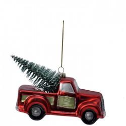 Bil med juletre for oppheng...